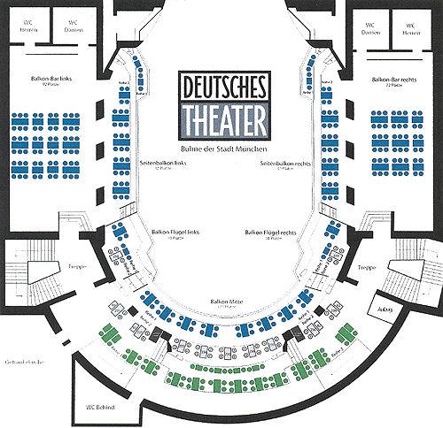 Sitzplan Deutsches Theater München